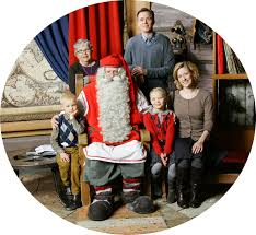 santa claus office arctic circle rovaniemi official site of