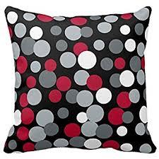 Red Decorative Pillow Amazon Com Sixstars Black U0026 White Chevron With Red Stripe Throw