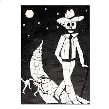 dog wall art juan walking his dog wall art day of the dead mexican skeleton