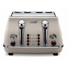 8 Slot Toaster Delonghi Icona Vintage 4 Slice Toaster Cream Robert Dyas