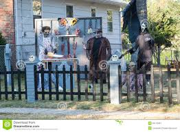 halloween decorated house extreme halloween decorating editorial photo image 34710961