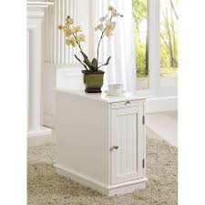 White Accent Table Belham Living Hampton Chair Side Table White Oak Hayneedle