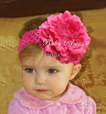 big flower headbands top baby headbands big flower hair bands children pink