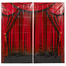 halloween scene setters room rolls amazon com fun express red curtain backdrop banner decoration 2