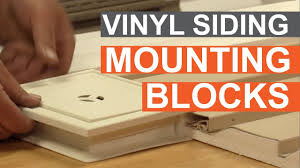 how to install vinyl siding light mounting blocks tip of the week using vinyl siding mounting blocks youtube
