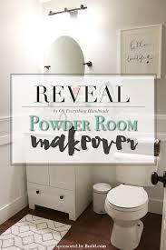 Powder Room Makeover Reveal Powder Room Makeover Oh Everything Handmade