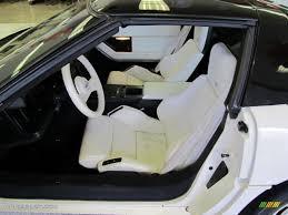 white corvette interior white interior 1988 chevrolet corvette 35th anniversary coupe