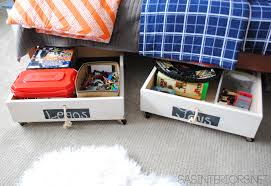 Diy Toy Storage Ideas Diy Rolling Underbed Wood Storage Cart Jenna Burger