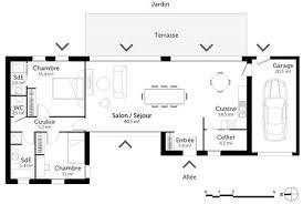 plan maison plain pied 3 chambres plan de maison 3 chambres plain pied 4 plan maison darchitecte de