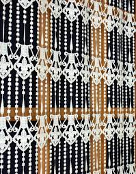 macrame lace cafe curtain flower of lily