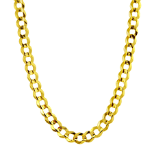 gold cuban necklace images Shop men 39 s 14k yellow gold 4 6mm flat cuban chain necklace free jpg