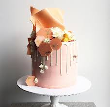 26 fantastical drip wedding cakes white chocolate ganache blush