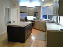kitchen color scheme white finish maple wood kitchen cabinets gray