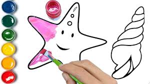 pink star coloring page pink blue red and glitter youtube