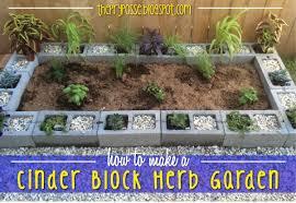 diy herb garden the pry posse diy cinder block herb garden