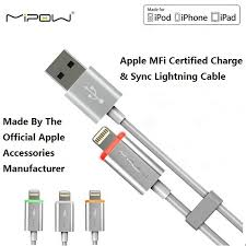amazon com mipow apple mfi certified lightning charging cable and