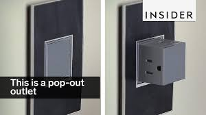 you can plug three cords into this pop up outlet youtube