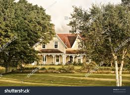 north american style old farm house stock photo 97161830