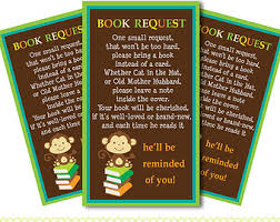 baby shower book instead of card poem monkey book request etsy