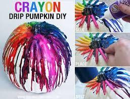 a totally and crayon drip pumpkin decor idea diy
