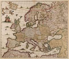 Map Of Europe 1600 Nova Et Accurata Totius Europae De Wit Europe Continent 1680