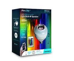 Led Light Bulb Speaker Blue Sky Wireless 8 Watt Dimmable Decor Led Light Bulb With