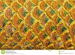 thai design pattern of naga fabulous serpent scales stock image