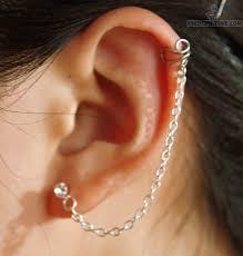 diamond helix stud stud lobe to cartilage piercing