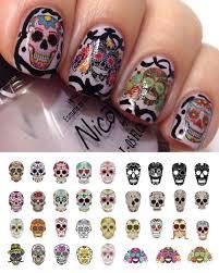 amazon com sugar skull nail decals assortment 1 water slide nail