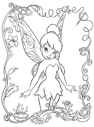 cute tinkerbell coloring pages cartoon coloring pages of