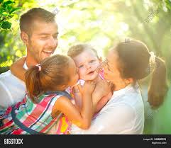 happy family garden happy joyful young family children image u0026 photo bigstock