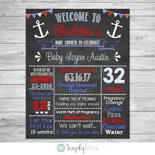anchor baby shower anchor baby shower chalkboard printable sign baby boy baby