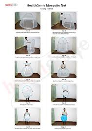 healthgenie foldable mosquito net double bed with repair kit of 7