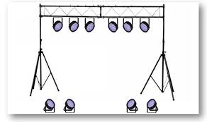 floor mounted stage lighting academy audio disco club band and stage lighting and effects