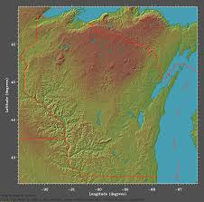 Southern Wisconsin Map by Elevational Relief Map Of Wisconsin
