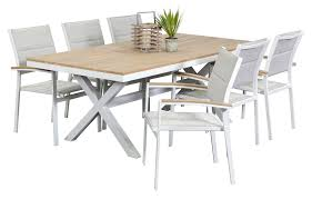 6 seater outdoor dining table aluminium outdoor dining sets granada 6 seater segals outdoor