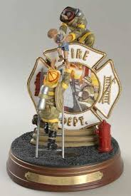firefighter figurines bradford exchange firefighters a tradition of bravery at