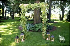 wedding arch greenery evergreen gardens wedding seattle wedding photographers