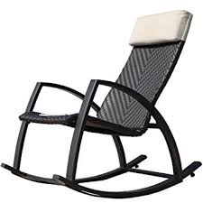 Patio Rocking Chairs Wood Grand Patio Weather Resistant Wicker Rocking Chair