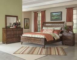 Klaussner Furniture Warranty Southern Pines 4 Piece Whispering Pines Sleigh Bedroom Set In Pine
