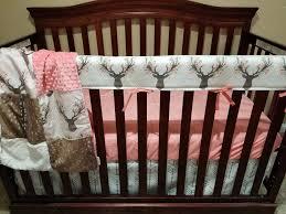 Deer Crib Bedding Baby Crib Bedding Tulip Fawn Deer Skin Minky White Tan
