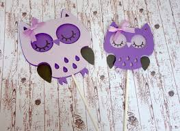 owl cake and cupcake toppers purple baby shower it u0027s a owl
