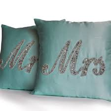 mr and mrs pillows monogram mr mrs pillow est date anchor from amorebeaute on etsy