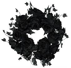 Black Halloween Wreath Halloween Garlands U0026 Picks Traditions