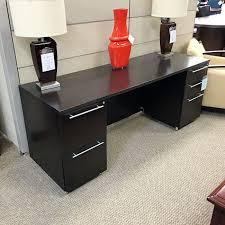 Krug Office Furniture by Krug Knee Space Credenza Espresso On Rift Oak Crk8040oops
