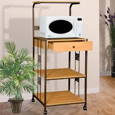 Kitchen Island Electrical Outlet Amazon Com Home Source Industries R0018 Beech Microwave Cart