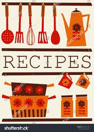 Orange Kitchen Accessories by Illustration Kitchen Accessories Retro Style Recipe Stock Vector