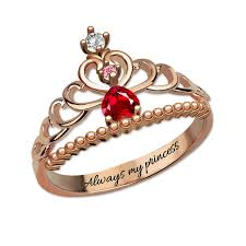 rings beautiful images Wholesale personalized beautiful tiara birthstone ring rose gold jpg