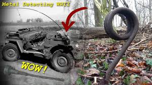 ww2 jeep front metal detecting ww2 awesome find detecting on the new