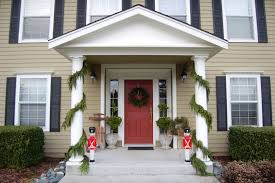 Christmas Decorations Outdoor Wall by Decorating Ideas Fancy Front Porch Christmas Decorating Design